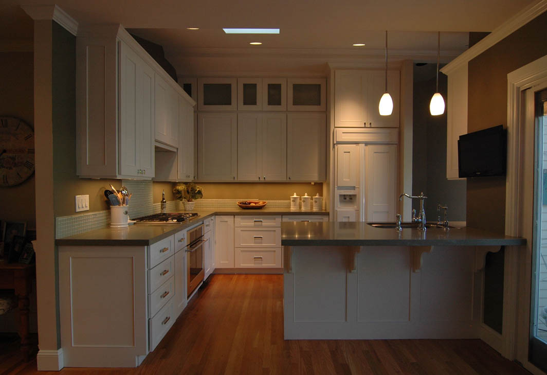 end kitchen cabinet chandeliers high with painted white cabinets
