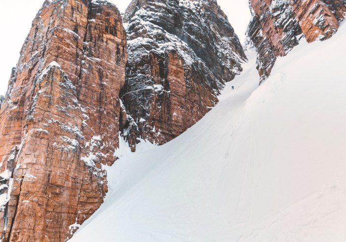 The bottom of the Grand daddy Couloir