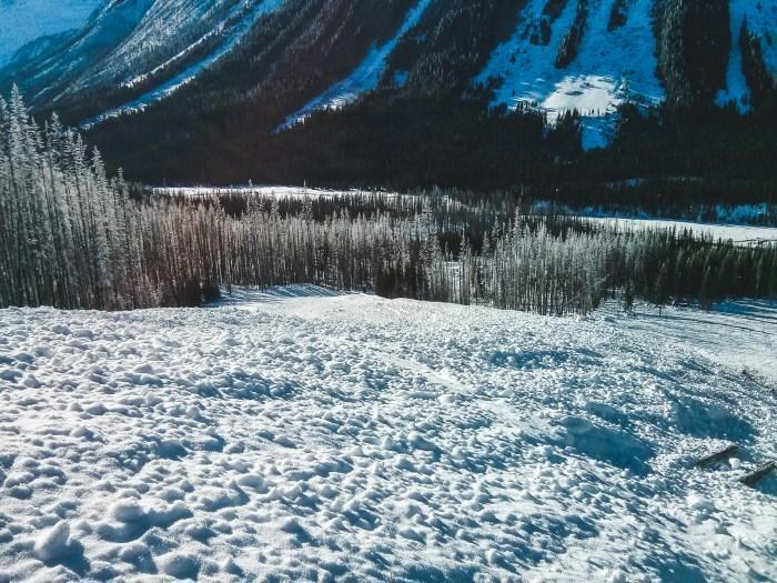 Avalanche Debris on Vermillion Peak Ski Descent
