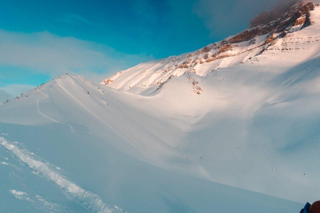 Apollo Bowl Ski Touring, Near Mt. Hector