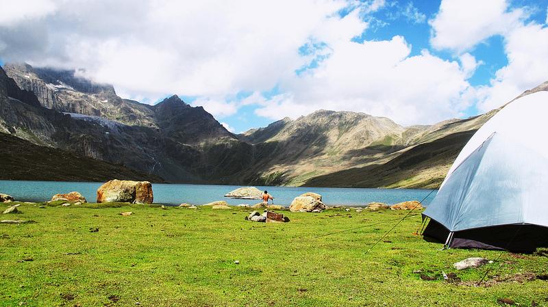 Gangabal lake camp