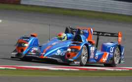 36 CHATIN Paul Lou (FRA) - PANCIATICI Nelson (FRA) WEBB Oliver (GBR) / Alpine A450 Nissan Team Signatech Alpine, action during the 2014 ELMS European Le Mans Series, 4 Hours of Silverstone on April 19, 2014 at Silverstone circuit. Photo Clément Marin / DPPI