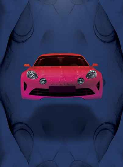 Alpine A120 AS1 affiche salon FIAC Paris - 12