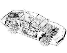alpine a310 ecorche : cutaway