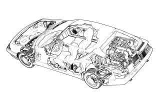 alpine gta turbo ecorche : cutaway