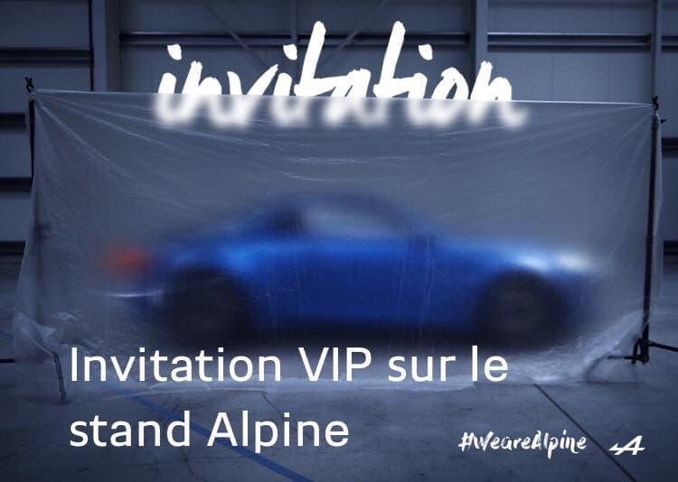 Alpine Cars a une invitation