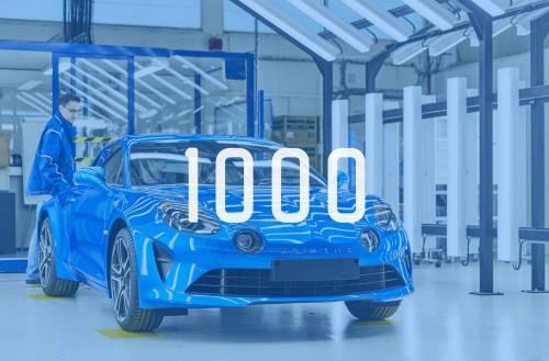L'usine Alpine de Dieppe fête sa 1000ème A110 produite !