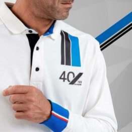 polo homme manches longues blanc 4 Alpine Collection 1978 boutique anniversaire 40 ans 24 heures du mans
