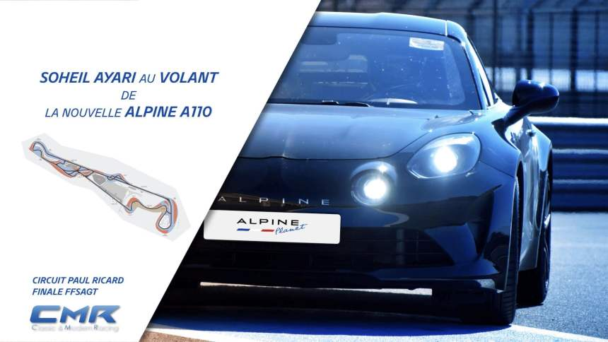 Un tour embarqué en Alpine A110 avec Soheil Ayari sur le circuit du Paul Ricard à l'occasion de la finale FFSAGT