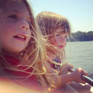 My daughters out on the water!