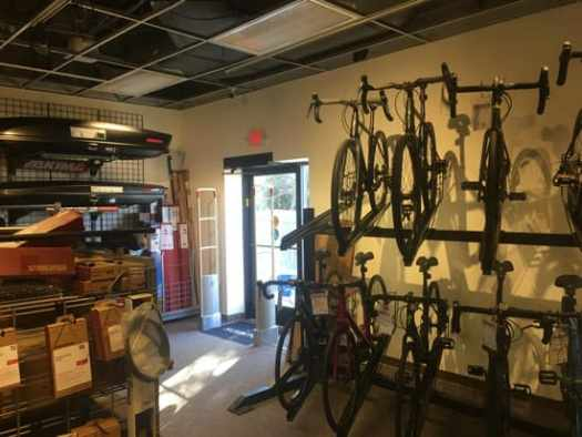 New Bike Shop entrance at Alpine Shop Kirkwood