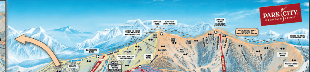 """First things first, while canyons and park city """"are now one"""" Park City Deer Valley Area Maps Alpine Ski Properties"""