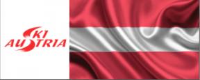 SKI AUSTRIA LOGO FLAG