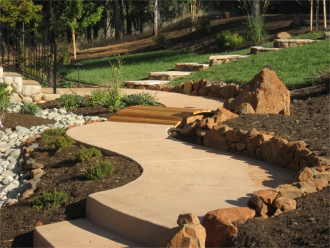 alpine terrace landscaping - hardscapes