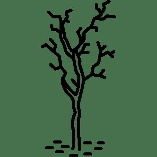 sick tree icon