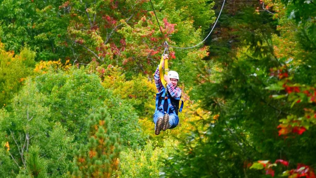 Ziplining Through the Fall Foliage