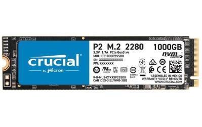 SSD M.2 Crucial P2 NVMe 2280 1TB M.2 2280 NVMe 1000 GB