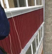 Обшивка балконов и лоджий снаружи