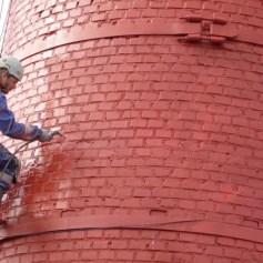 Ремонт и покраска дымовых трубальпинистами