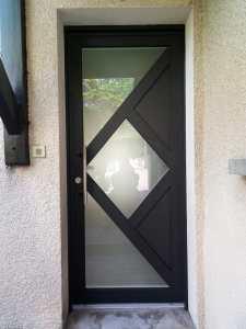 Porte mixte bois - aluminium Seyssins 1
