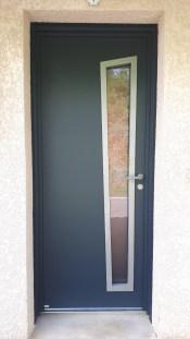 Porte d'entrée aluminium extérieur Vif 2020