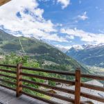 The twins verbier ski chalet, view