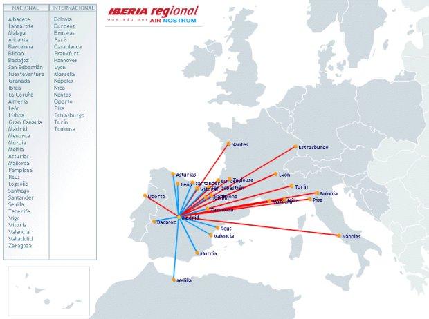 Mapas de rutas aéreas