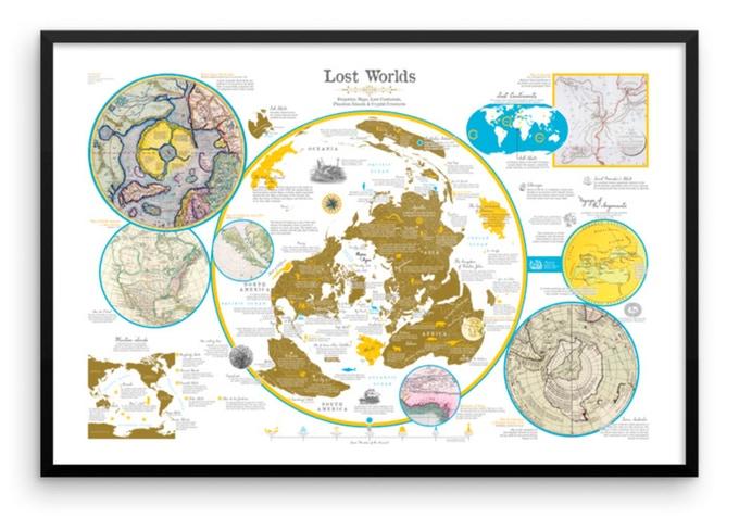 """Un mapa de los """"Mundos Perdidos"""""""