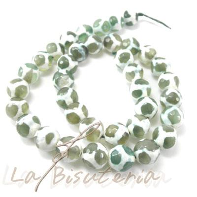 Agata mimetizada tallada color verde mimetizado