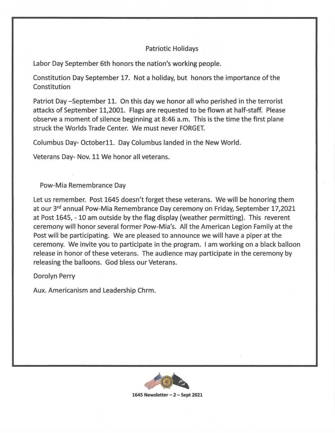 09 Sept Newsletter 0002 - Newsletter