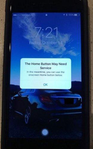 Apple iPhone7 Home Button Fail