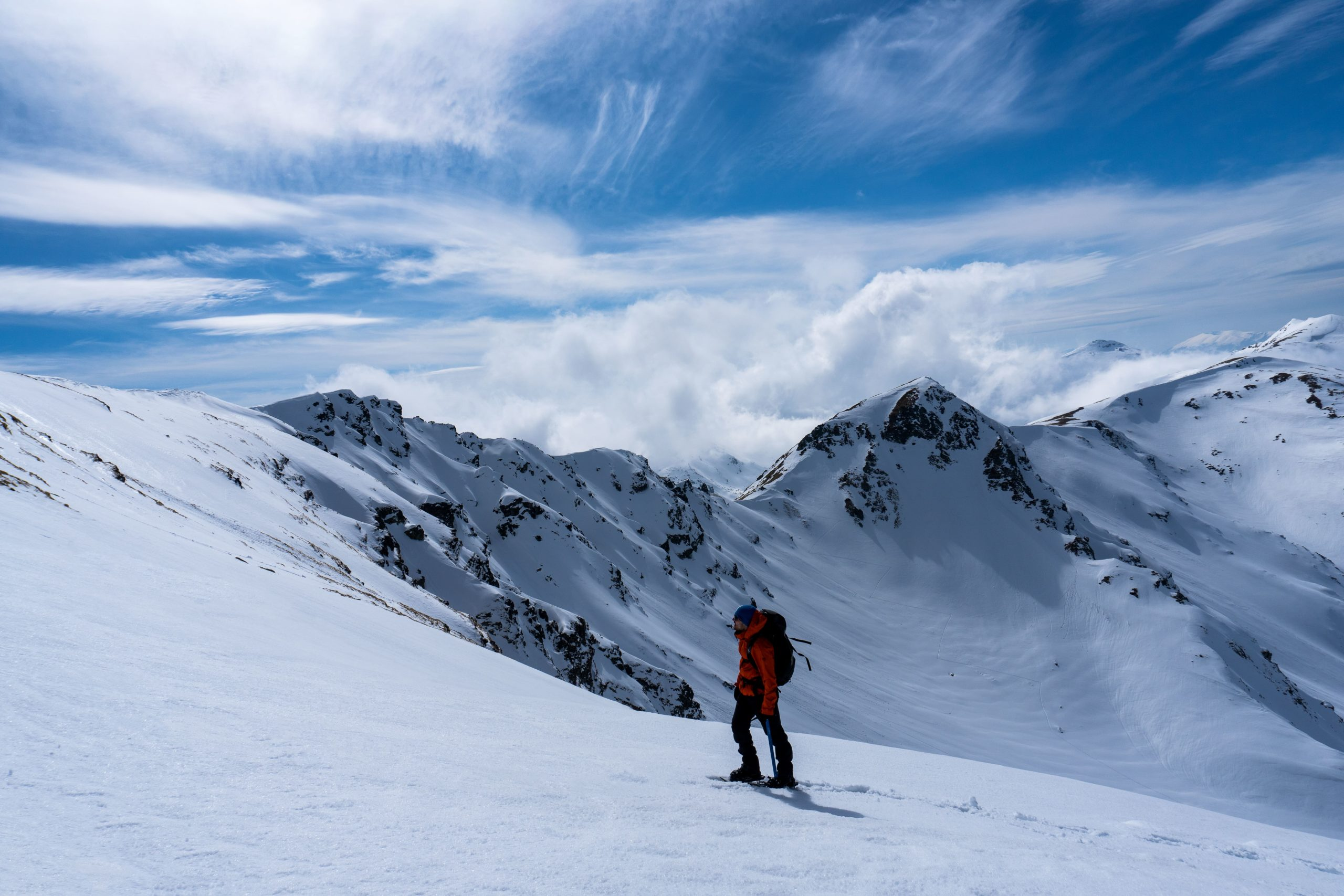 Hiking Kosovo Winter Snowshoeing