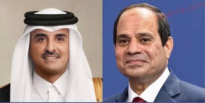 صورة عاجل… الرئيس السيسي يتبادل تهنئة عيد الأضحى هاتفياً مع الشيخ تميم بن حمد أمير دولة قطر