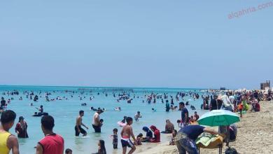 صورة شواطئ رأس سدر كاملة العدد في ثالث أيام عيد الأضحى المبارك