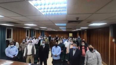صورة البدء لتدشين أكاديمية محافظة أسوان للتدريب والتنمية المهنية المستدامة