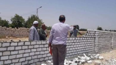 صورة إزالات فورية على أراضى أملاك الدولة بقنا في رابع ايام العيد