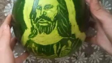 صورة رسم قبطي …رسم علي البطيخ  للسيد المسيح