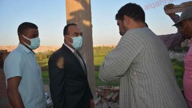 """صورة ابوزيد"""" إزالة حالة تعد بالبناء المخالف بدون ترخيص بالمنيا"""