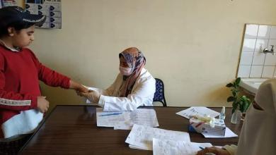 صورة توقيع الكشف الطبي علي 1730 مريض بالقافلة الطبية بمركز المحلة الكبرى ضمن مبادرة حياة كريمة.