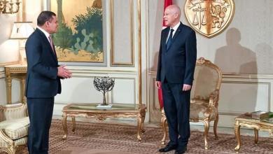 صورة رئيس الجمهورية التونسية يستقبل رئيس حكومة الوحدة الوطنية الليبية