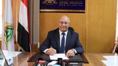 صورة شكر رئيس جامعة بنها الجديد القيادة السياسية على الثقة وتعيينه رئيساً للجامعة بالأمس