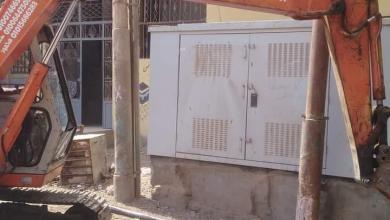 صورة استمرار أعمال مد وتدعيم شبكات الكهرباء بالشوبك بالوحدة المحلية بالمريج