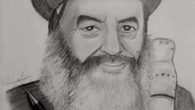 صورة رسم بالرصاص لأسقف المحلة الأنبا كاراس