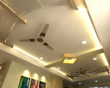 Pop Ceiling Design For Hall With 2 Fans - Wallpaperall   Pop ...