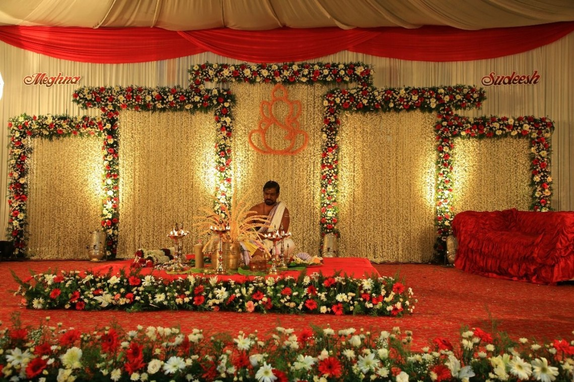 8 Photos Simple Stage Decorations For Hindu Wedding And ...