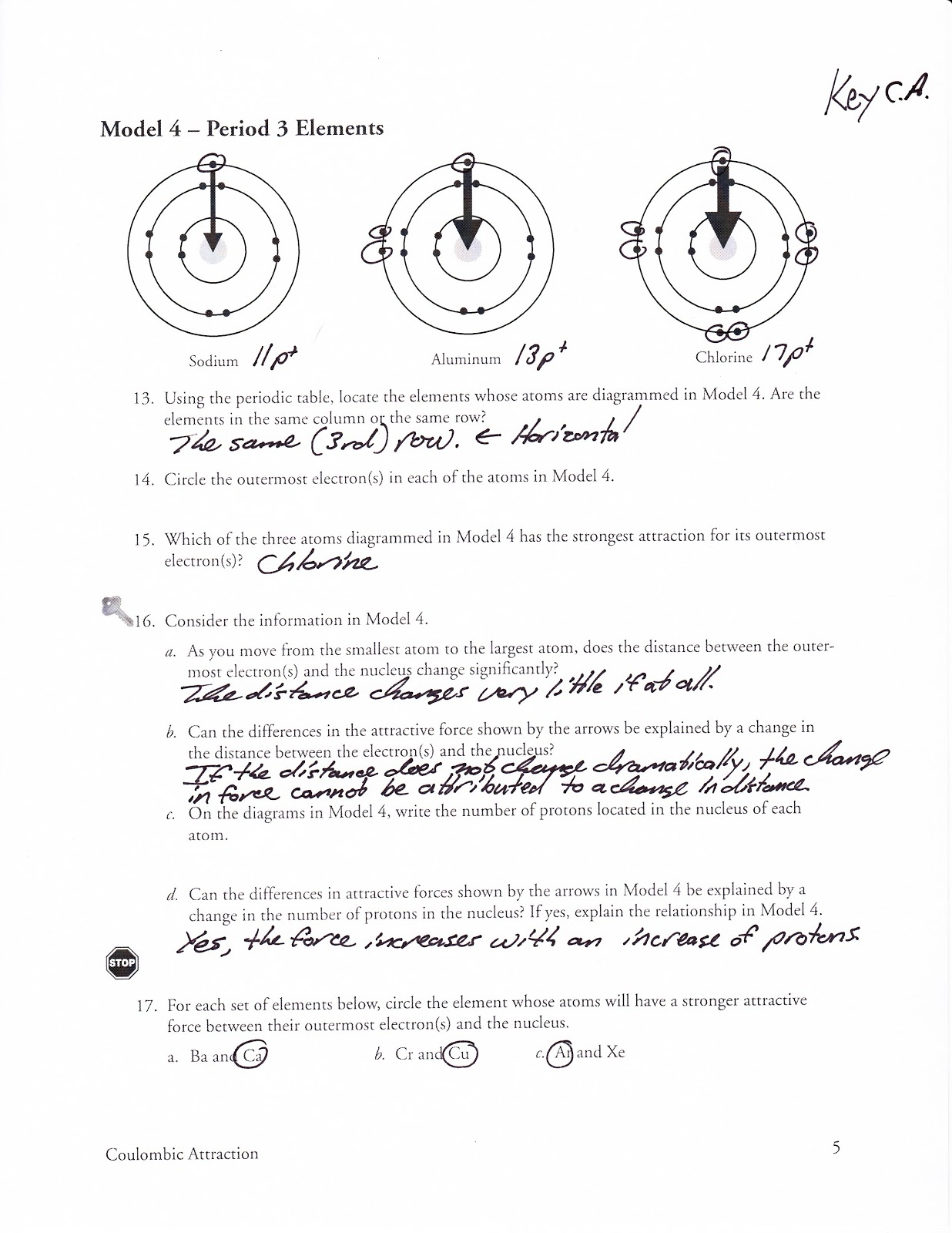 9 Photos Periodic Table Trends Worksheet Answer Key Pogil
