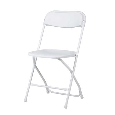 silla plegable blanca  Alquileres y Eventos San Francisco