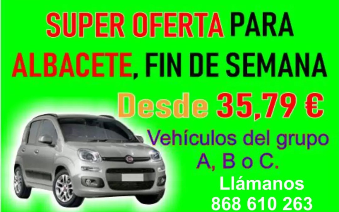 SUPER OFERTA PARA ALBACETE FIN DE SEMANA DESDE 35,79 €