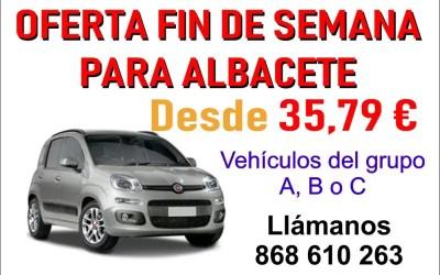 OFERTA PARA ALBACETE FIN DE SEMANA DESDE 35,79 €