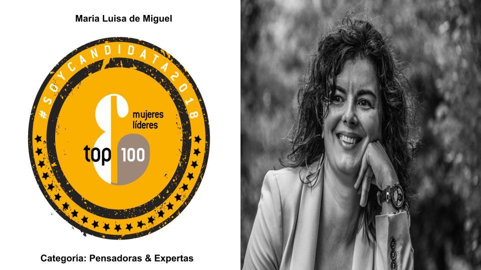 Soy candidata TOP 100 Mujeres Líderes España 2018 Mujeres&Cía